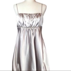 Dresses & Skirts - Silver Cocktail/prom/wedding guest dress